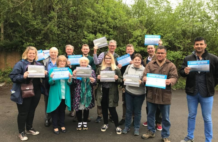 Conservatives from all over Berkshire came to help our candidates for the local Borough elections